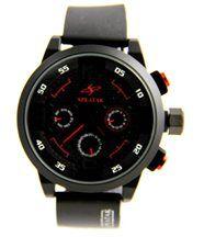Montre Homme Originale Bracelet Silicone Noir SPEATAK 792