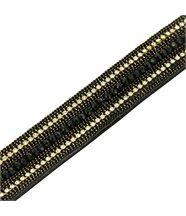 Bracelet fantaisiefemme cuir noir incrusté daphnee 1201