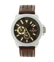 Montre Homme Cuir Marron Moderne NAVIFORCE 1385