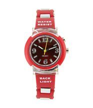 Montre pour femme lumineuse silicone rouge 2124