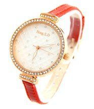 Montre Femme Cuir Rouge SD CITIZEN 213