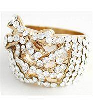 Bague Femme Corset Doré Diamants Cz DAPHNEE 194