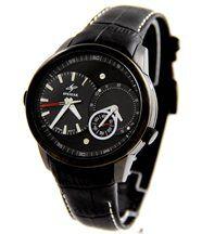 Montre homme dble-cadran bracelet cuir noir speatak 2903