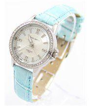Montre pour Femme Bracelet avec Cuir Bleu JASMIN 627
