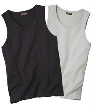 Set van 2 mouwloze shirts
