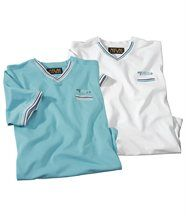 Lot de 2 Tee-Shirts Beach Sport
