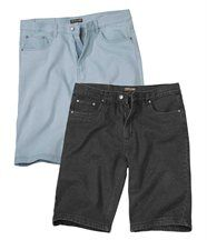 Lot de 2 Bermudas Denim
