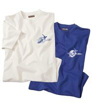 Lot de 2 Tee-Shirts Iles Cook