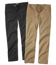 Lot de 2 Pantalons 1_camel plus 1_noir