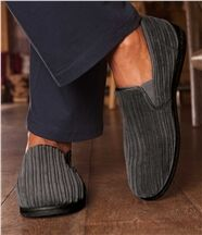 Pantoffels van velours en fleece