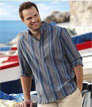 Overhemd met korte knopenlijst
