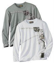 Set van 2 T-shirts met lange mouwen