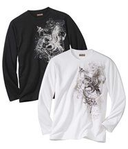 Lot de 2 Tee-Shirts Pygargue