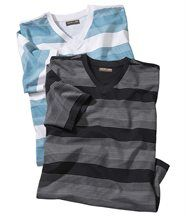 Lot de 2 Tee-Shirts Rayés