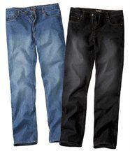 1 jeans bleu + 1jeans noir
