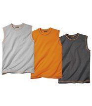 Set van drie zomerse mouwloze shirts