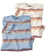 Lot de 2 Tee-Shirts Rayures Tonic