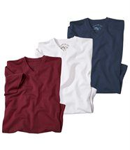Lot de 3 Tee-Shirts Col V