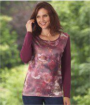 Tee-shirt Floral Bi-Matière