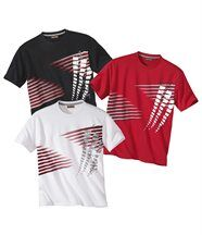 Lot de 3 Tee-Shirts Graphic