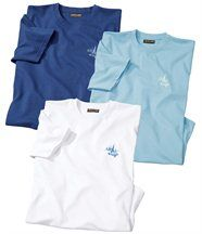 Lot de 3 Tee-Shirts Iles Med