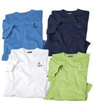 Set van vier T-shirts 'Zomer'