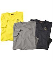 Lot de 3 Tee-Shirts Polyester