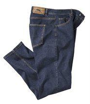 Blauwe stretchspijkerbroek