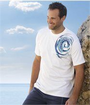 HET T-SHIRT Blue Waves