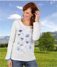 Tee-Shirt Fleur Bleue