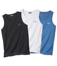 Set van drie mouwloze shirts 'Windsurf'