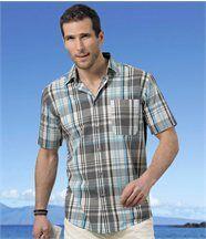 Chemise à Carreaux Turquoise
