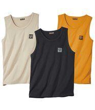 Set van 3 mouwloze sportshirts