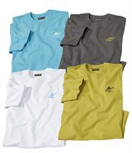 Lot de 4 Tee-Shirts Summer Palm