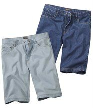 Lot de 2 Bermudas Jeans