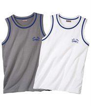 Set van twee mouwloze shirts 'Beach Sport'