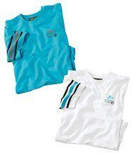 Lot de 2 Tee-Shirts Azur