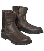 Boots Zippées Fourrées Sherpa
