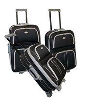 Kinston set de 3 valises trolley 2 roues silve...