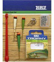 Zebco kit de pêche à la truite multicolore flo...