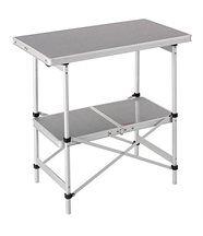 Frankana table pliable en aluminium avec 2 pla...