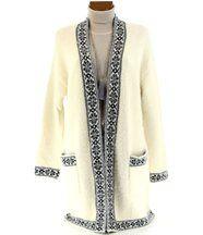 Manteau  laine ethnique - joyce - beige