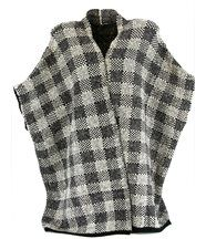 Poncho  tricot 36/56 - tony - noir /beige