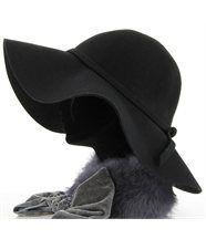 Chapeau 100 % laine feutre noir - BETTYNA -