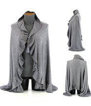 Etole écharpe cape Châle laine   JULIE  gris GRIS