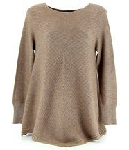 Pull trapèze laine taupe 36/48 MAXIME