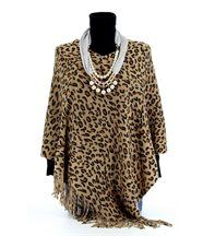 Poncho léopard beige 36/46  - benedicte
