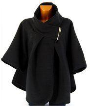 Cape manteau femme grande taille noir matilda noir