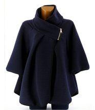 Cape manteau veste grande taille bleu marine matil
