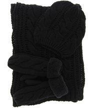 Bonnet + echarpe + gants laine polaire - avoriaz -